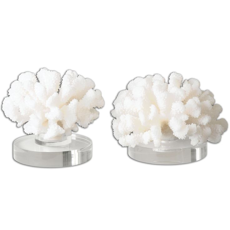 Hard Coral Sculptures, Set of 2 by Uttermost