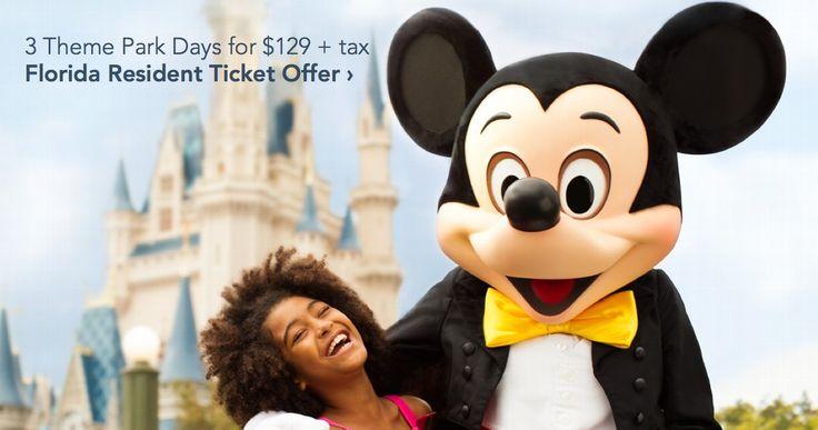 Walt Disney World: Florida Resident 3-Day Pass $129 | Miss Money Bee