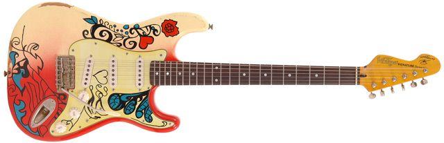 Vintage V6 Thomas Blug Signature Guitar.