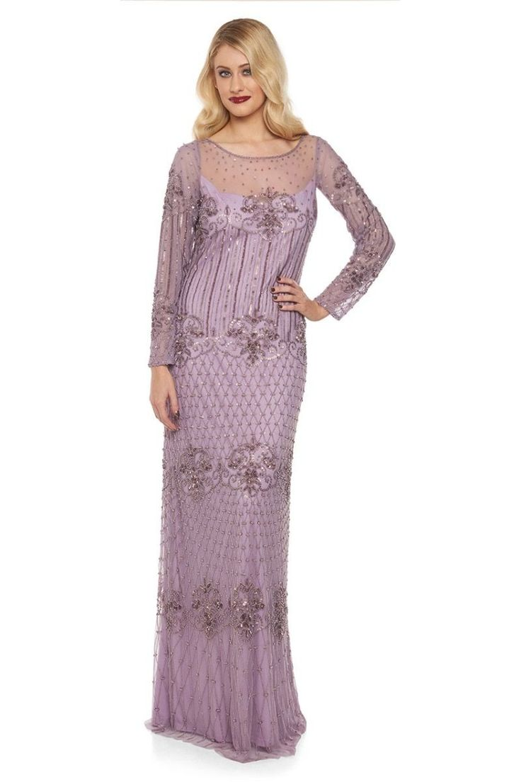 1920s Inspired Evening Maxi Dress in Lavender | Great Gatsby & Flapper Style Dresses | Art Deco & Roaring Twenties Gowns | Vintage | Gatsby Lady