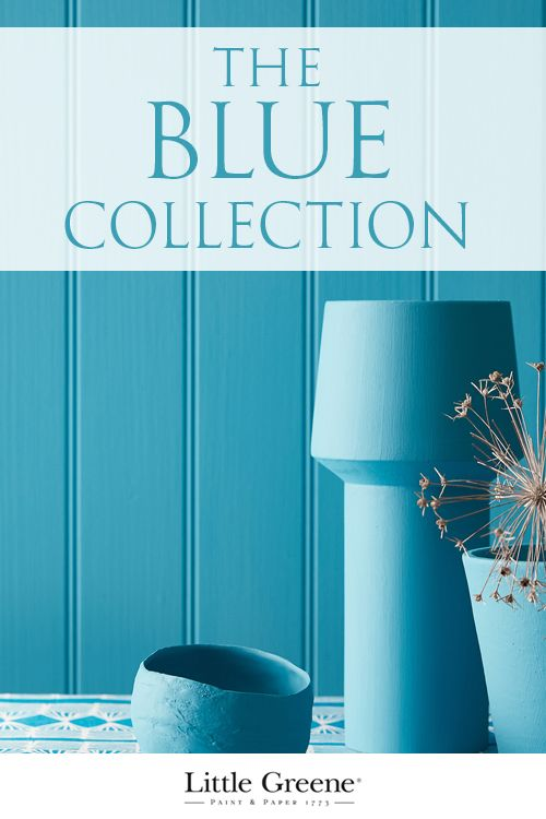 Take a look at these inspirational paints and wallpapers from Little Greene's Blue Collection. #home #decorating