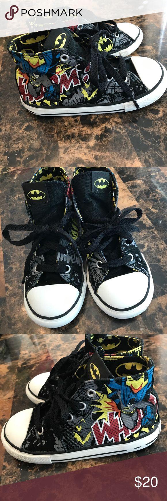 Batman Converse size 10 Batman Converse shoes. Size 10. Good used condition Converse Shoes Sneakers