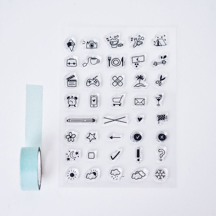 Stempelset aus 38 Clear Stamps | Odernichtoderdoch