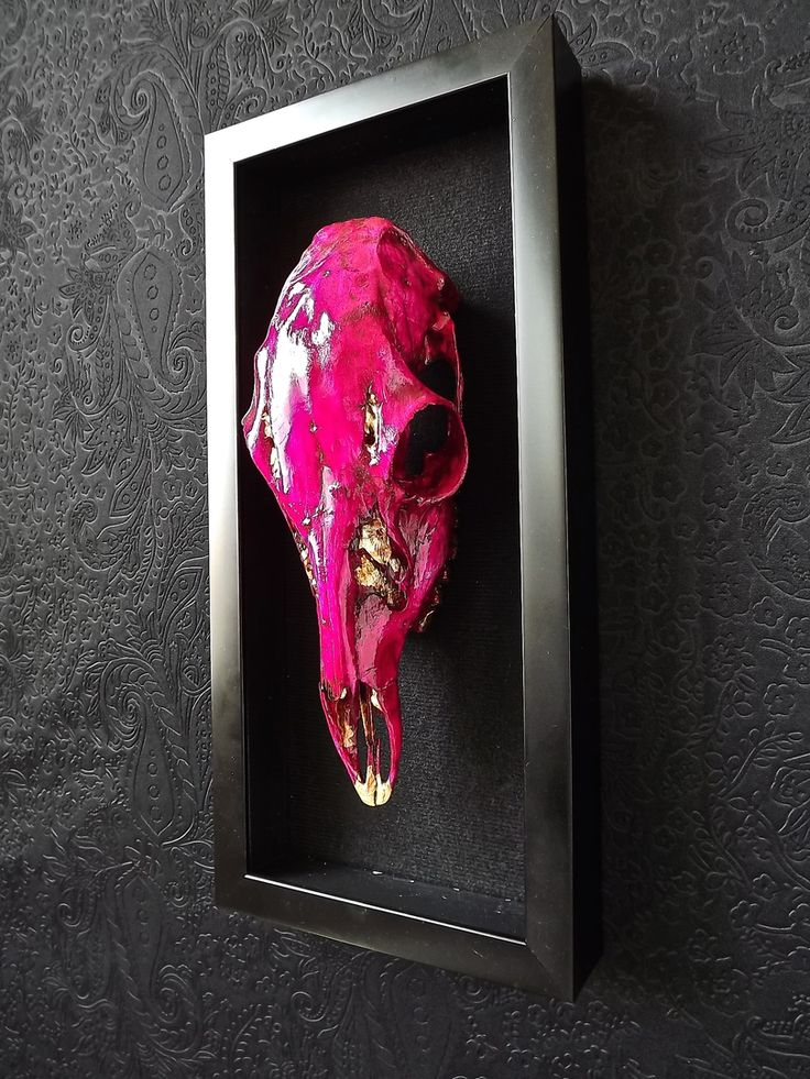 Acrylic Paint And Gold Leaf Artful Animal Skulls