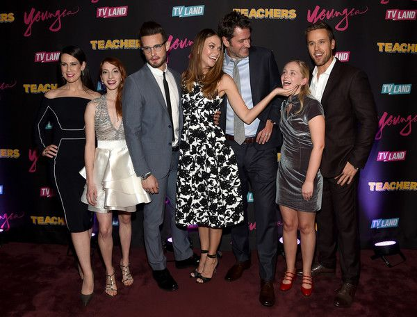 "(L-R) Miriam Shor, Molly Bernard, Nico Tortorella, Sutton Foster, Peter Hermann, Tessa Albertson and Dan Amboyer attend the ""Younger"" Season 2 and ""Teachers"" Series Premiere at The NoMad Hotel on January 12, 2016 in New York City."