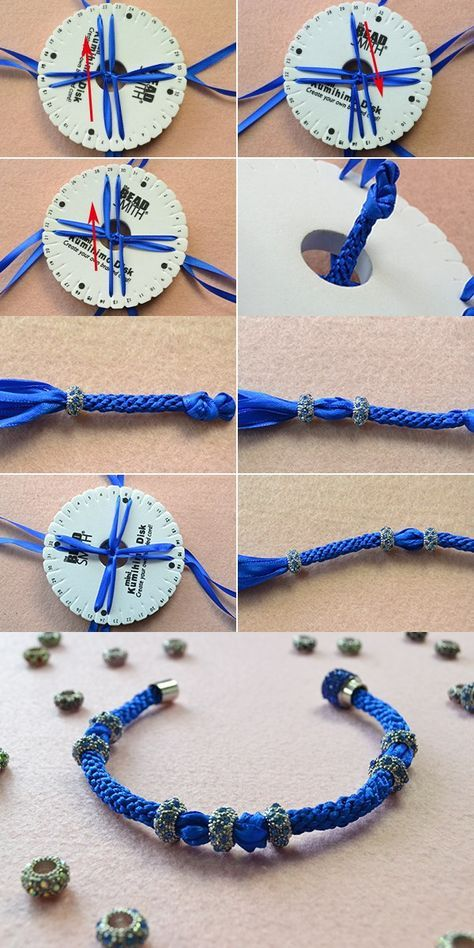 Ribbon braided bracelet, like it? LC.Pandahall.com will publish the tutorial soon. #pandahall