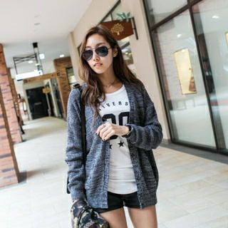 Buy 'PIPPIN – Mélange Knit Cardigan' with Free Shipping at YesStyle.com.au. Browse and shop for thousands of Asian fashion items from South Korea and more!