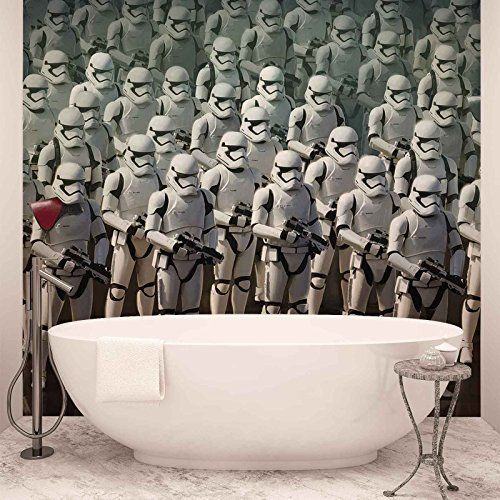 Star Wars Force Awakens - Photo Wallpaper - Wall Mural - EasyInstall Paper - Giant Wall Poster - XXL - 312cm x 219cm - EasyInstall Paper - 3 Pieces