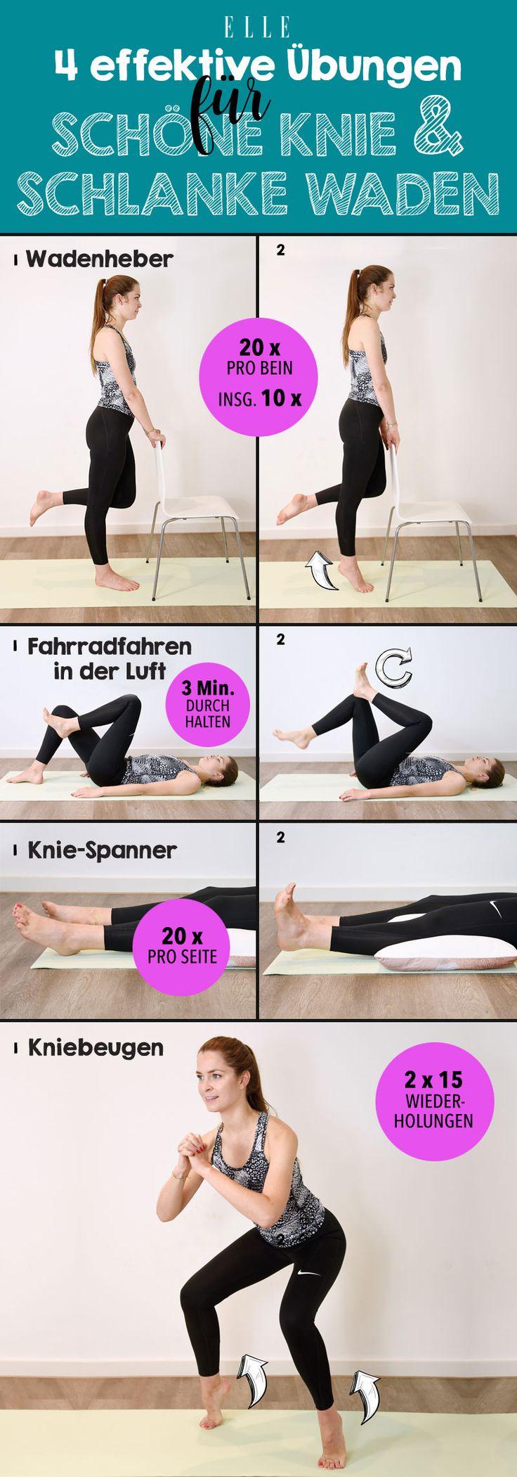 Diese Übungen sorgen für schöne Knie und schlanke Waden