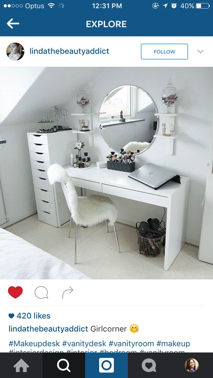 Ikea Malm Schminktisch Weiss ~   Schminktisch Ikea on Pinterest  Dream Apartment, Girl Rooms and Malm