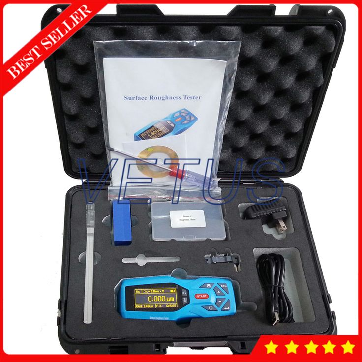 KR220 20 Parameters Surftest profilometer Handheld Surface Roughness Tester Meter Gauge with Real-time clock settings display
