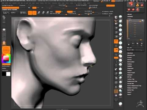 ZBrush Sculpting Female Head