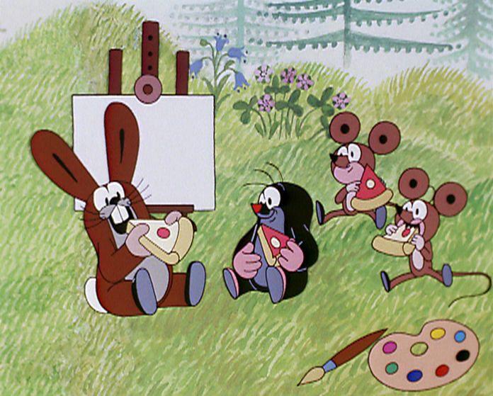 (2015-02) Muldvarpen spiser kager sammen med haren og musene