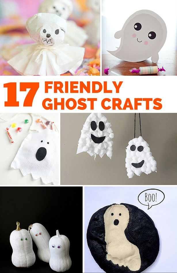 17 Friendly Ghost Crafts for Kids. Non-Scary Halloween crafts for the kids.