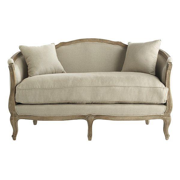 """61""""w x 30""""d x 36""""h  $1399 Linen European Furniture - Settee"""