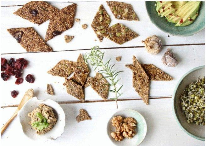 Кунжутно-льняные крекеры — Кулинарная книга - рецепты, фото, отзывы
