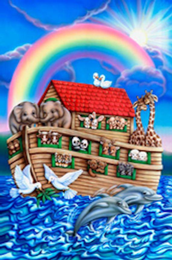 Noahs Ark Gastflied Mural - Wall Sticker Outlet