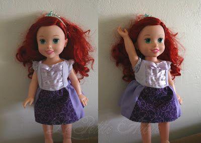 Free Rapunzel Dress Pattern for 15″ doll