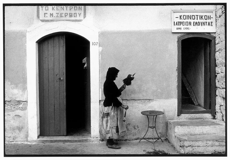 "Constantine Manos Greece. Crete. Elounta. 1964. Street scene. ""A Greek Portfolio"" p.62 Magnum Photos"