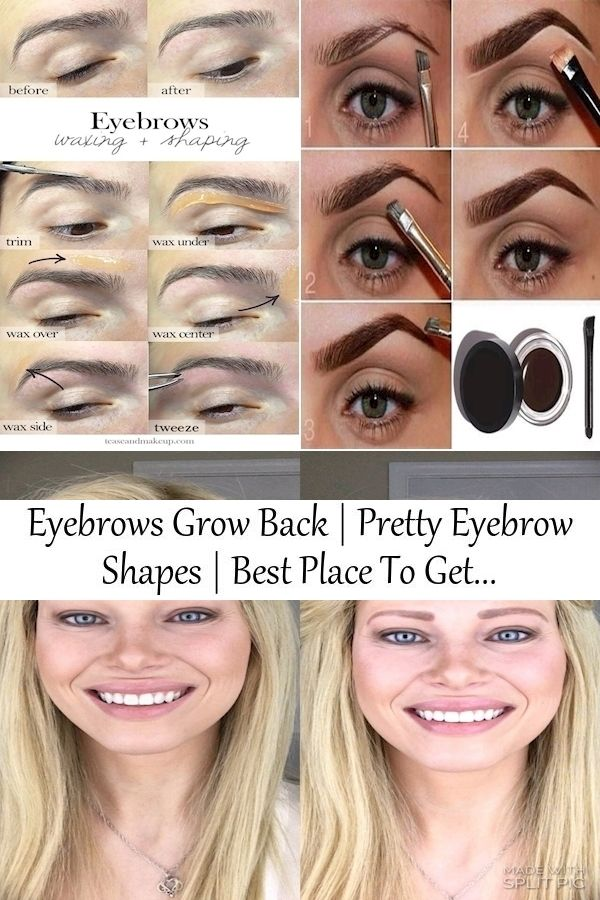 Eyebrows Grow Back | Pretty Eyebrow Shapes | Best Place To ...