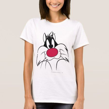 SYLVESTER™ Red Nose Face T-Shirt - click/tap to personalize and buy