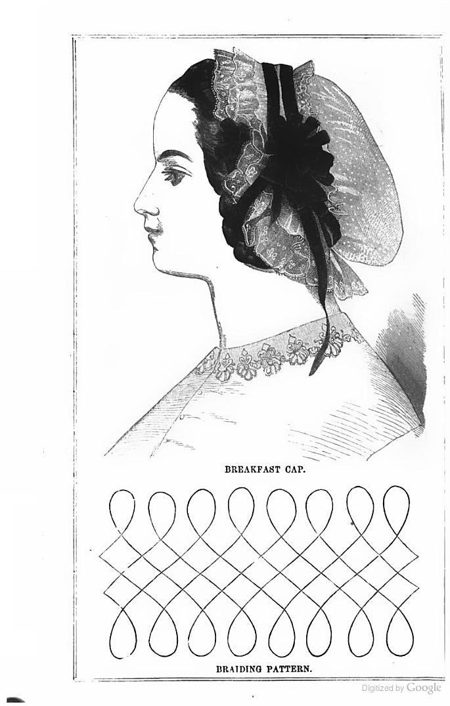 1863 Arthur's Lady's Home Magazine - Breakfast cap civil war era fashion