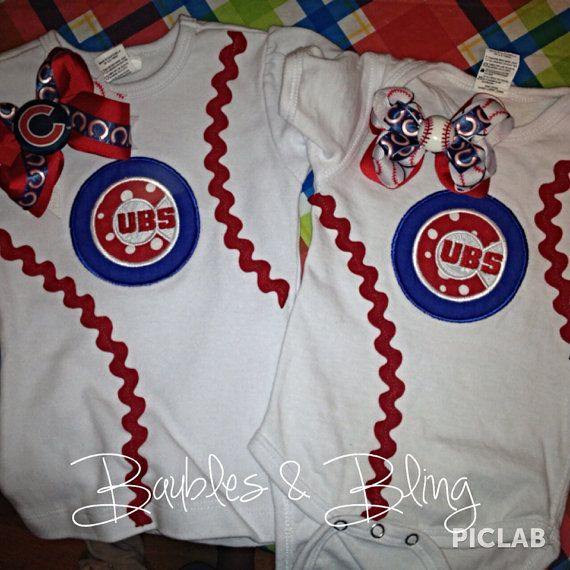 Chicago Cubs Baseball Custom Made Toddlers by BaublesBlingBoutique, $20.00