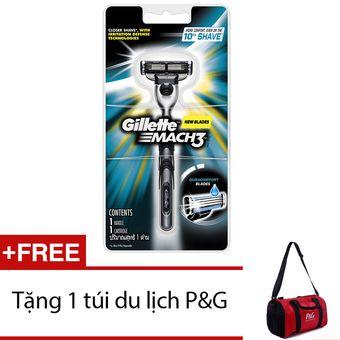 Mua Dao cạo râu Gillette Mach 3 + Tặng túi du lịch P&G chính hãng, giá tốt tại Lazada.vn, giao hàng tận nơi, với nhiều chương trình khuyến mãi...
