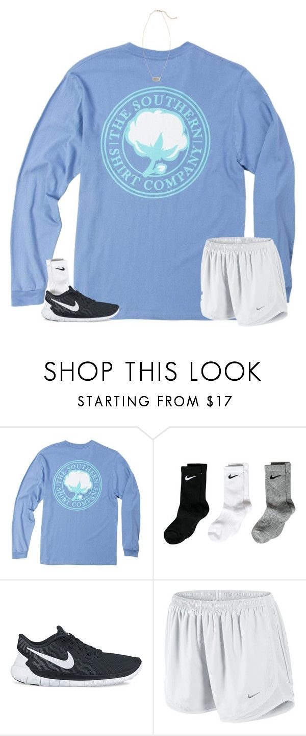 """Want these shorts"" by disneyfashionedits ❤ liked on Polyvore featuring NIKE and Kendra Scott"