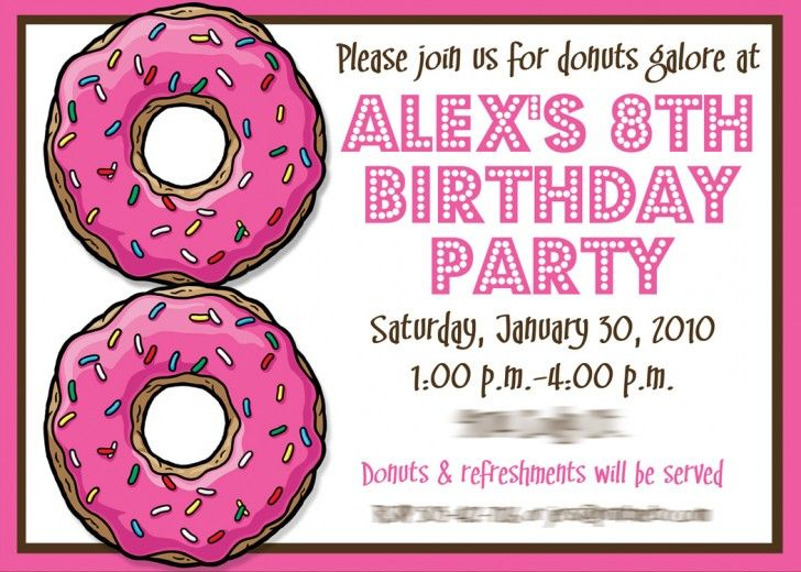 13 best Birthday Invitations images on Pinterest 8th anniversary - invitations samples for birthday