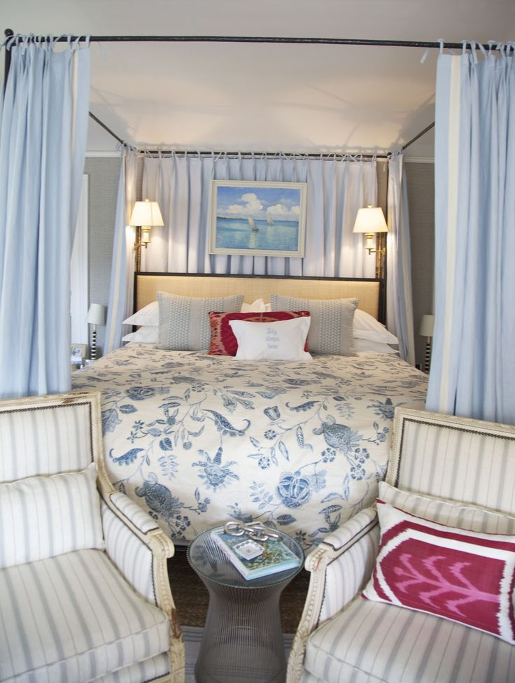 Habitually Chic®: Chic Hollywood Hills Home: Part Deux: Guest Room, Guest Bedroom, Blue Room, Blue Bedrooms, Hollywood Hills Homes, Chic Hollywood, White Bedroom, Beautiful Bedrooms