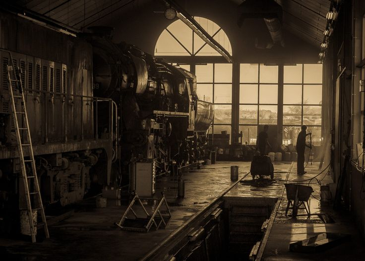 Vintage train station by Martijn Eilander