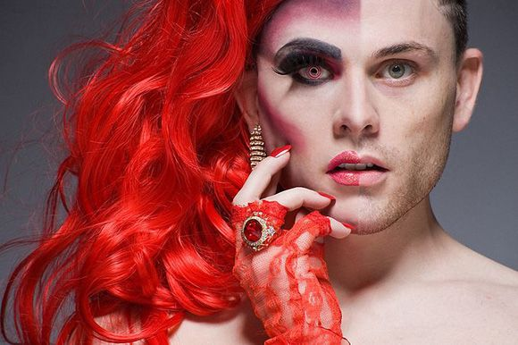Portrait Photography of Drag Queens with Makeup and their Alter Ego