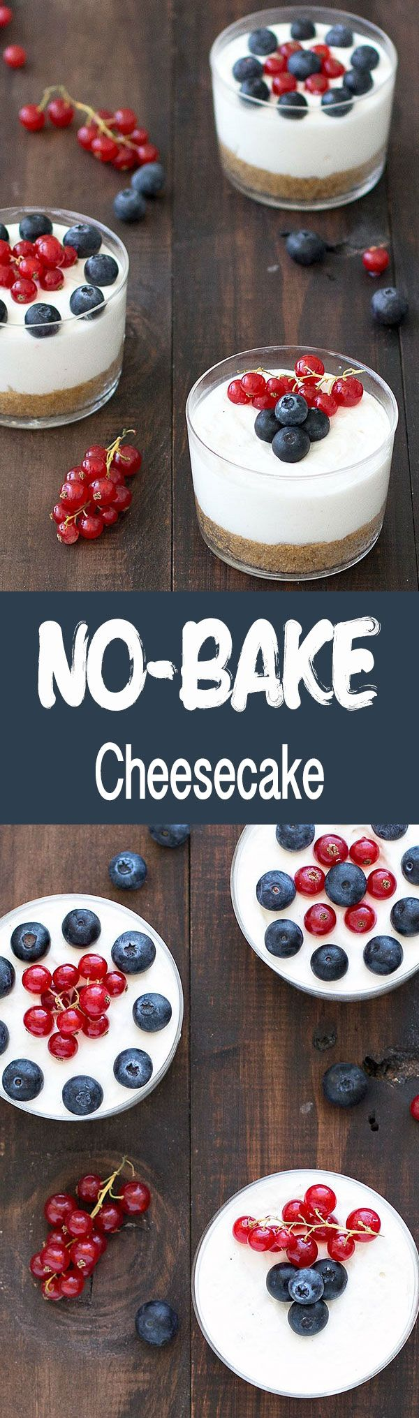 This no-bake cheesecake in a glass is super easy to make and best of all, there is no need to turn on the oven.