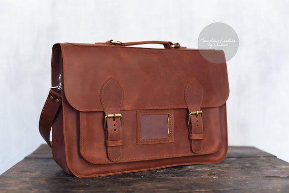 Leather SATCHEL <b>Mens</b> leather bag <b>Messenger bag</b> Women ...