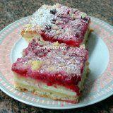 MOUČNÍKY, POHÁRY - **Můj kynutý rybízový koláč s tvarohem**