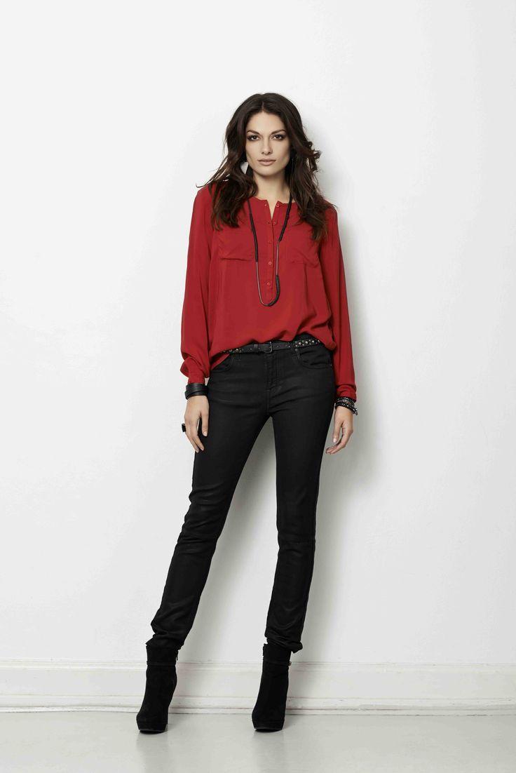 soyaconcept - shirt - belt - pants - jeans
