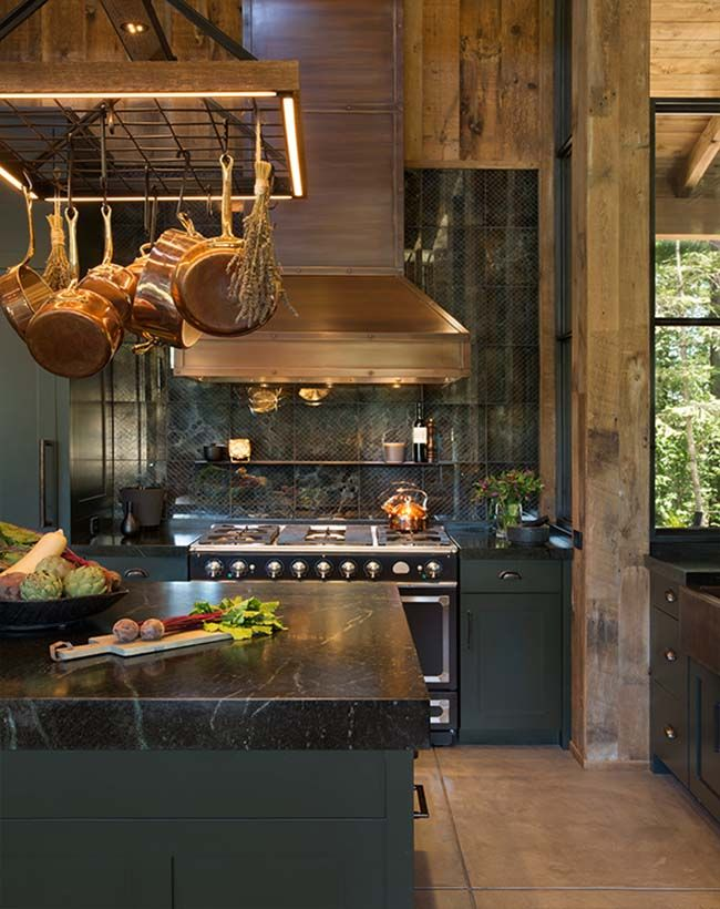 25 best ideas about contemporary cabin on pinterest for Small cozy kitchen ideas