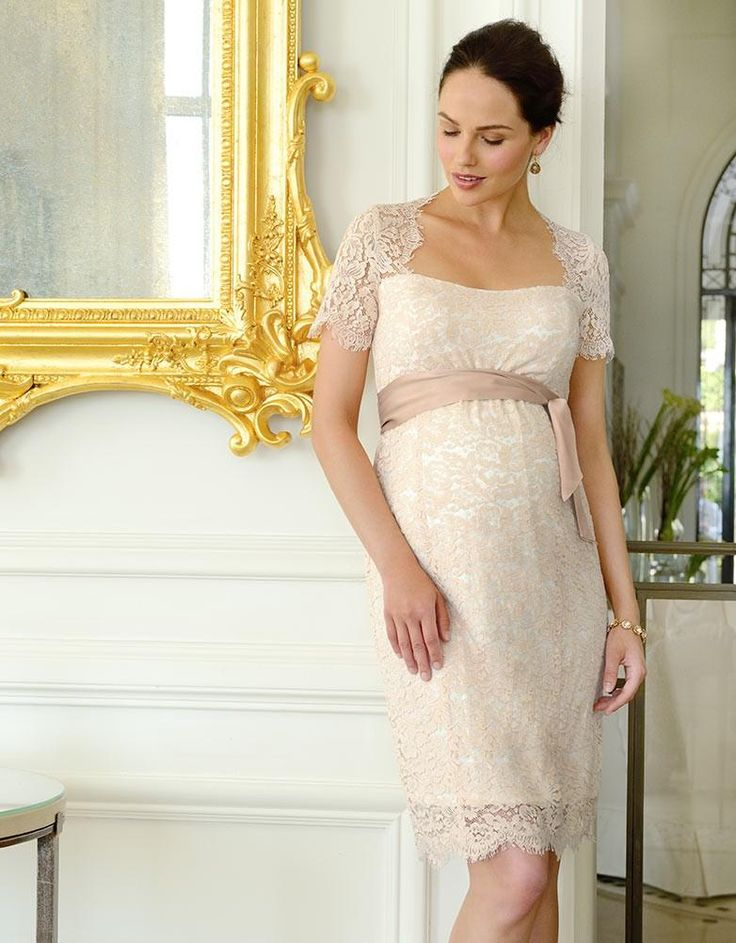 Champagne Cut Out Lace Maternity Dress. Lace Baby ShowerBaby ...