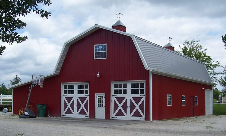 5435 best pole barn kits images on pinterest pole barns Gambrel style barns