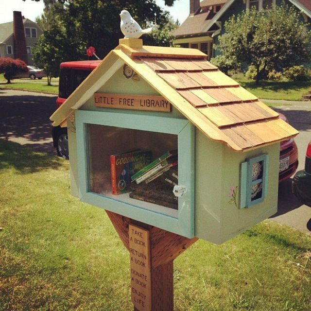 A genius idea for sharing Good Books with your neighbors. Take A Book – Return A Book – Donate A Book.