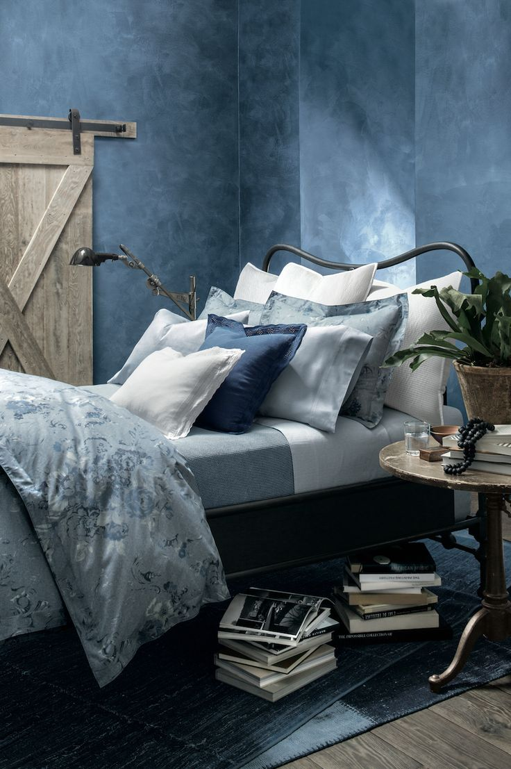 #RLHome's Indigo Montauk Bedding, part of the Cote D'Azur Collection, is inspired by classic American denim and designed to be layered. Find it: http://rlauren.co/1GlcdFk