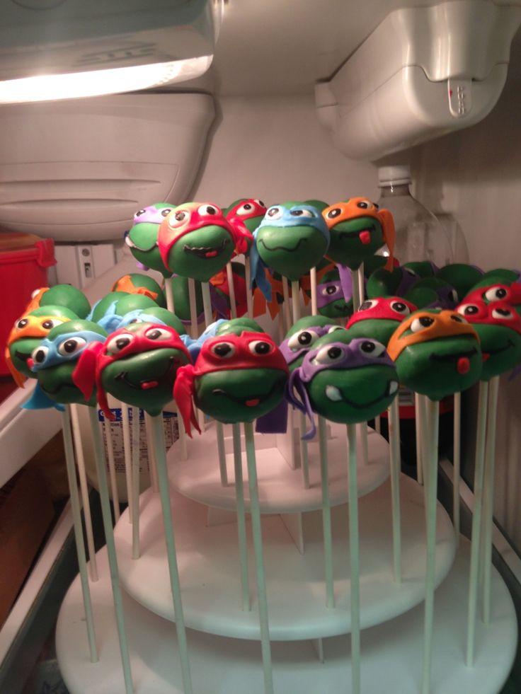 Ninja Turtle Cake Pops Ninja Turtles Pinterest Cake