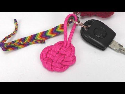 Paracord Herz Schlüsselanhänger selber machen Knoten - easy heart keychain DIY / Anleitung deutsch - YouTube