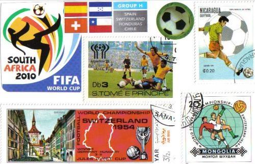 Homemade football postcard