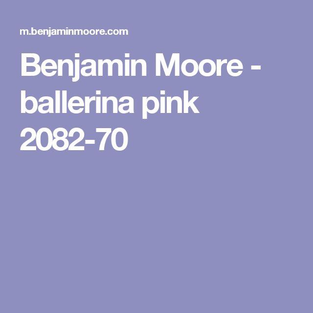 Benjamin Moore - ballerina pink 2082-70