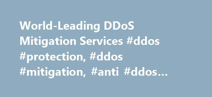 World-Leading DDoS Mitigation Services #ddos #protection, #ddos #mitigation, #anti #ddos #protection http://swaziland.nef2.com/world-leading-ddos-mitigation-services-ddos-protection-ddos-mitigation-anti-ddos-protection/  # DDoS Protection by Arbor Networks APS Powerful DDoS Protection Made Simple Arbor Networks APS provides proven, on-premise DDoS protection for the world's most critical enterprise and government networks. Enhanced by integrated DDoS detection and DDoS mitigation…