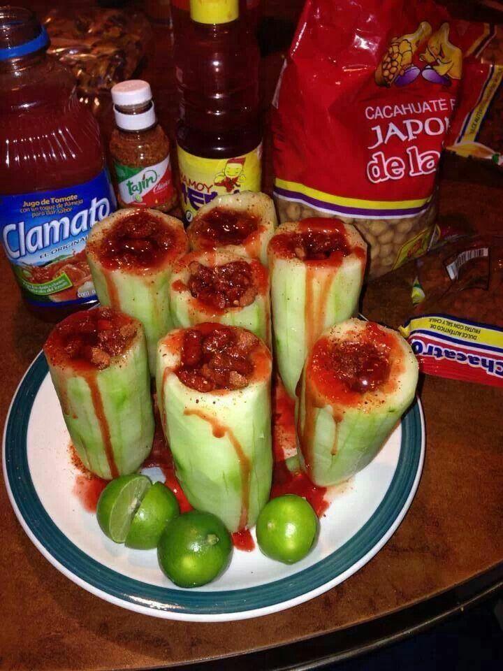 Pepino con chile