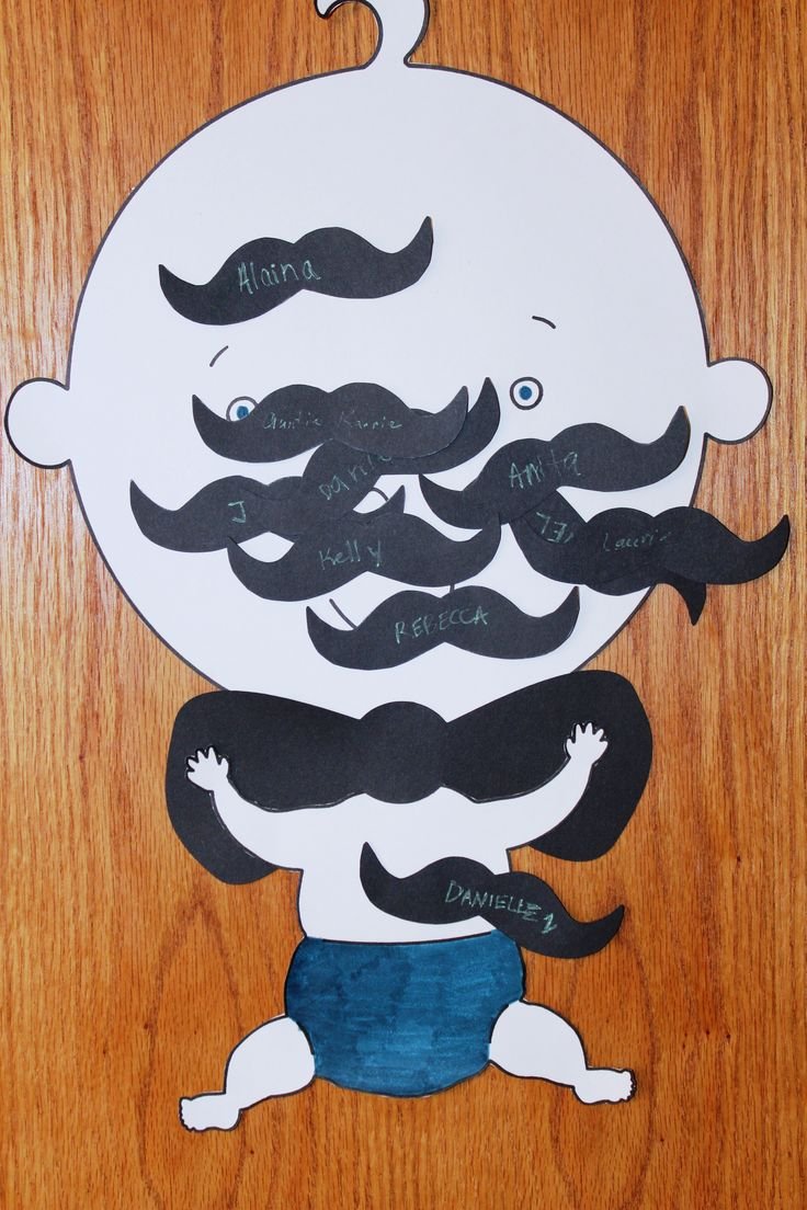 Mustache Bash Baby Shower ~ Pin the Stache on the Baby!