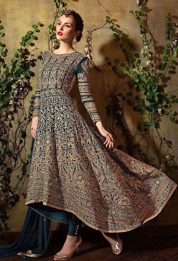Ethnic Blue #Designer Salwar Kameez Set
